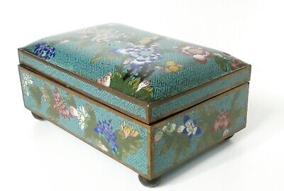 Large Antique Chinese Cloisonne Box c1900s
