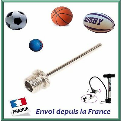 Aiguille Gonflage Ballon Embout Métal Football Rugby etc