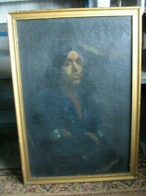 Early OOC painting of an Native American INDIAN signed Reese Mid 1800s ?