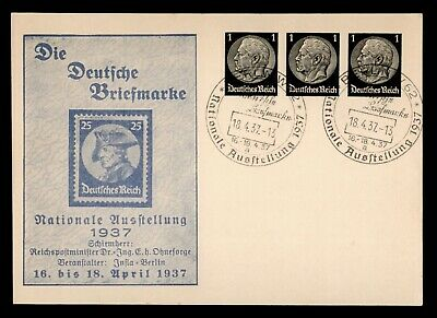 Dr Who 1937 Germany Berlin Postal Card Compound Stationery C86907