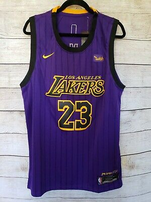 brand new fa682 8503e LEBRON JAMES LOS Angeles Lakers Nike Wish Purple Swingman Jersey XL 52