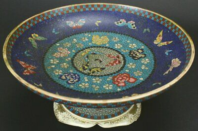 Meiji Period Japanese Cloisonne  Fused To Earthen Ware At  Base And Rim Museum
