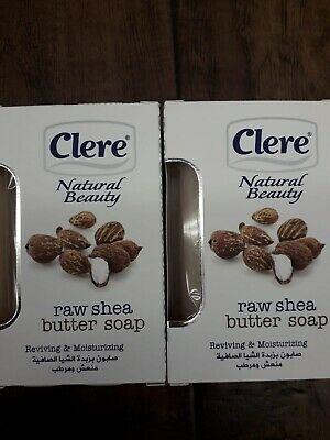 X2 CLERE NATURAL BEAUTY RAW SHEA BUTTER SOAP 150g