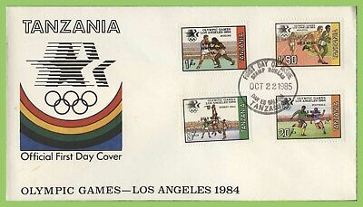 Tanzania 1985 Olympics, Los Angeles, Gold Medals overprints set First Day Cover