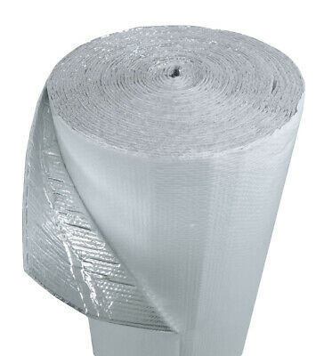 Reflective Thermal Insulation Heat Shield White / Foil Double Thick 4'X25ft
