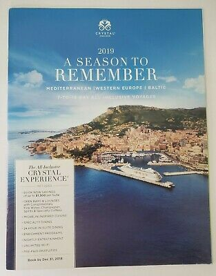 2019 Crystal Cruises A SEASON TO REMEMBER Travel Cruises NEW!