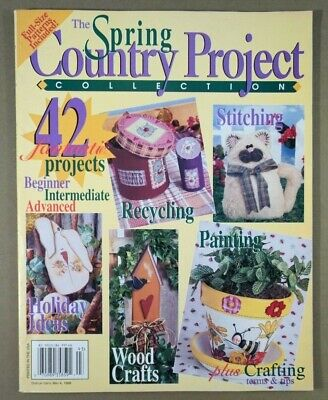 Spring Country Project Collection magazine 1999 country folk prim craft patterns