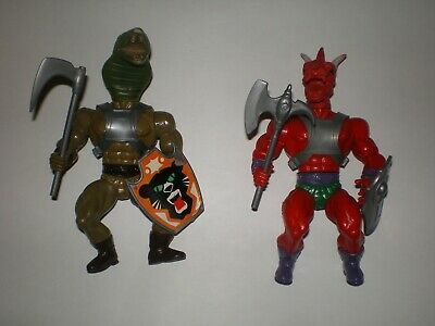 Vintage Galaxy Warriors Complete KO Figure Lot Dragoon Sahak Like MOTU Sungold