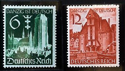 GERMANY #B492-3 MNH. VF centering. $4.00 CV.