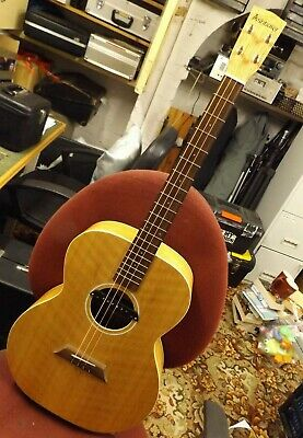 Ashbury AT40 tenor guitar. Electro acoustic,Fitted soundhole pickup. With bag