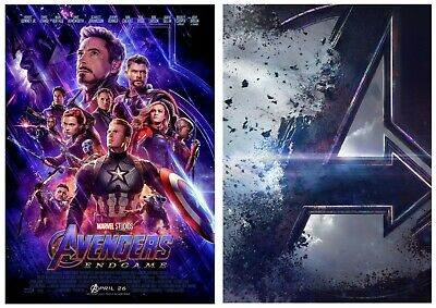 Marvel Comics, AVENGERS: Endgame Poster & Textless Teaser Film Posters A5 A4 A3