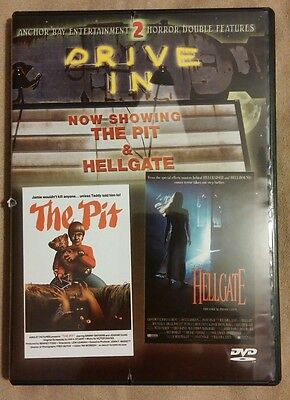 The Pit / Hellgate DVD Anchor Bay OOP Drive-In Double Feature