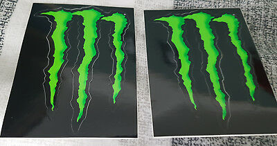 2 x Official Monster Energy Stickers 11cm x 8cm *Free postage