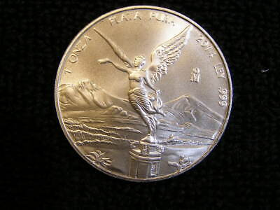 2014 Mexican Libertad GEM BU 1 Troy oz .999 Silver, Mintage only 429,200!