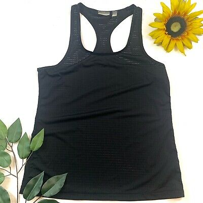 1d05e052195eaa ZELLA Athletic Tank Top Womens Size S Lightweight Soft Finish Black  Racerback