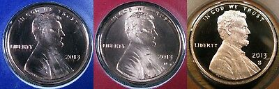 2013 P D S Lincoln Shield Cent 1-P; 1-D; 1-S BU Mint Set Coins & Proof Coin