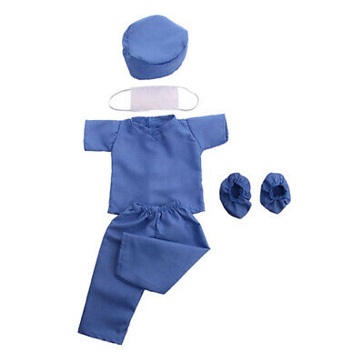 6pcs Doll Doctor Clothes Outfits Scrubs Set for American Girl 18 inch Dolls