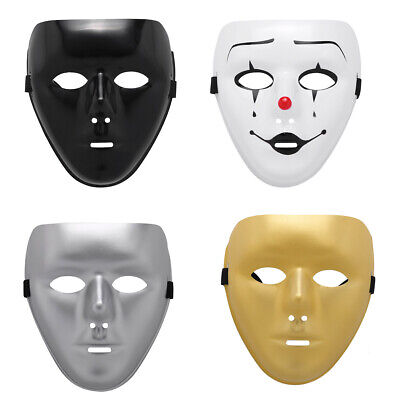 Unisex Plastic Scary Mask Masquerade Party Ghost Theater Prop Dance Fancy Dress