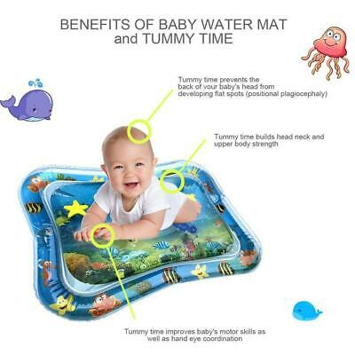 Inflatable Water Mat For Baby Infant Toddlers Mattress Splash Playmat Tummy*Time