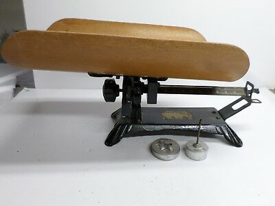 """Antique """"DETECTO"""" BABY SCALE - 30 lb. Capacity - WOODEN TRAY SWIVELS"""