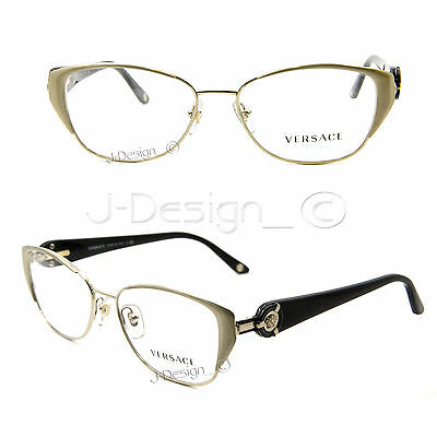 cfbdf442ede9 VERSACE MOD. 1221 Gold Orange 1252 Eyeglasses Frames 52-15-135 New ...