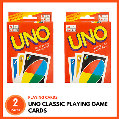 2 x UNO PLAYING CARDS | Kids Card Games Family Card Games Classic Card Games