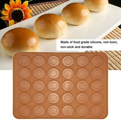 NEW MASTRAD SILICONE MACARON BAKING SHEETS COOKIE OVEN 2 PACK 11 LARGE RIDGES