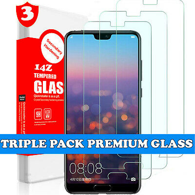 TRIPLE PACK Tempered Glass Screen Protector Clear for Huawei P20 Pro Lite Mate