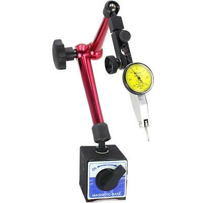 Useful Dial Test Indicator Gauge Scale Precision + Magnetic Base Holder Stand AU