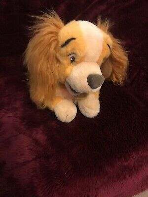 Disney Store Plush Doll Figure Movie Classic Lady & The Tramp Character Dog Toy