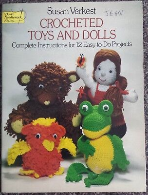 Crocheted Toys and Dolls Book by Susan Verkest 35 pages Dolls Bear Frog Crochet