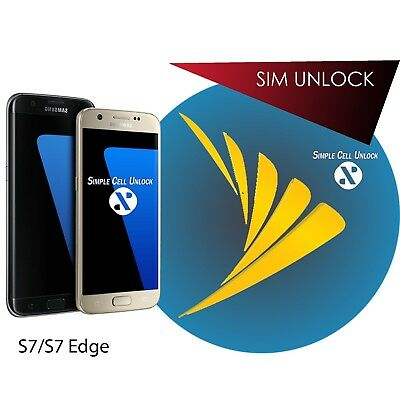 INSTANT Samsung Galaxy S7 s7 edge Sprint Sim Unlock Service 8.0!! Binary 9 Supp!
