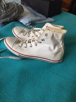 White High Top Converse Sneakers - Size 39