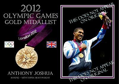 Anthony Joshua Boxing British 2012 London Olympic Gold Medal Win Print
