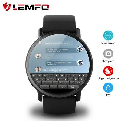 LEMFO LEM X 4G Smart Watch Android 7.1 GPS 8MP Camera Wristwatch For Android iOS