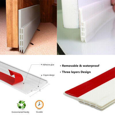 Self-adhesive Under Door Draft Stopper Silicone Bottom Seal Strip Gap 3 Colors