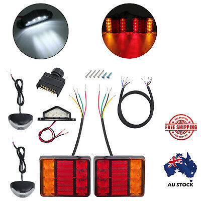 Cool Led Trailer Wire Kit Car Truck Square Tail Light Number Plate Side Wiring Database Hyediarchgelartorg