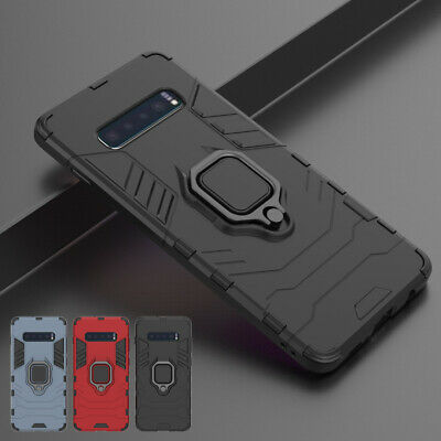 Heavy Duty Magnet Ring Holder Armor Hard Case Cover For Samsung Galaxy S10/S10+