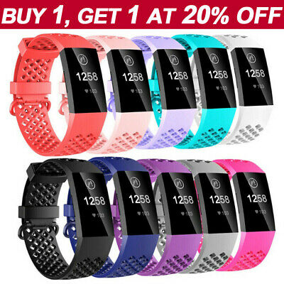 Replacement Fitbit Charge 3 Bands Sports Watch Bracelet Wrist Strap Breathable