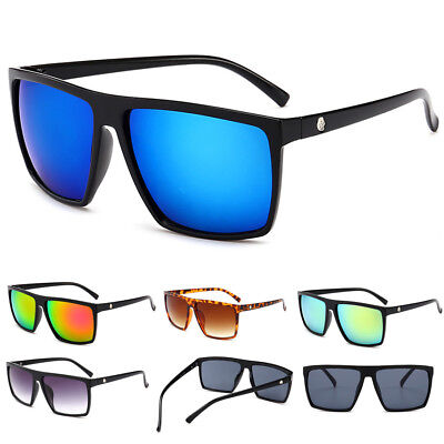 NEW Vintage Retro Men Women Outdoor Sunglasses Eyewear Flat Top UV400 Lens