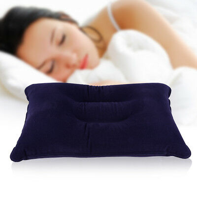 Hot Portable Ultralight Inflatable Air Pillow Cushion Travel Home Flight Rest