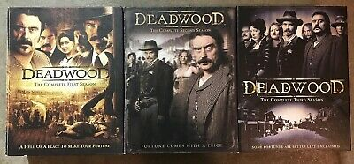 DEADWOOD Complete Series DVD Seasons 1, 2, & 3 Lot Of Three Box Sets HBO