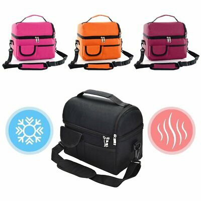 Waterproof Insulated Thermal Cooler Lunch Box Carry Tote WorkStorage Bag KU