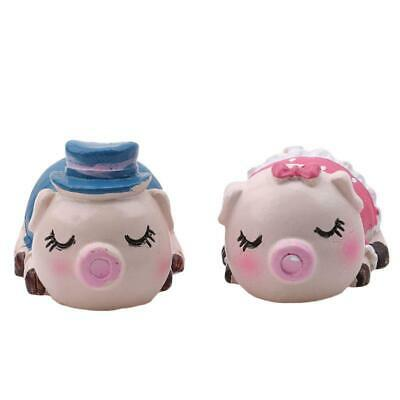 Hand paint Resin Pig Statues Pink Kiss Pig toys Wedding gift  figur FW