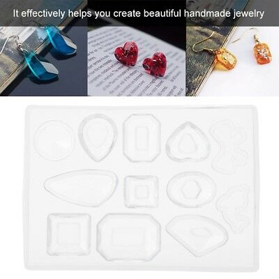 Silicone Resin Mold for DIY Jewelry Pendant Making Tool Mould Handmade Crafts