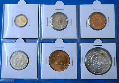 1966 Mexico Mexican UNC Coin Set in 2x2 Coin Holder