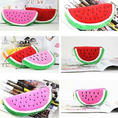 Women Girls Fruit Cartoon Coin Purse Watermelon Wallet Bag Handbag Gift TO