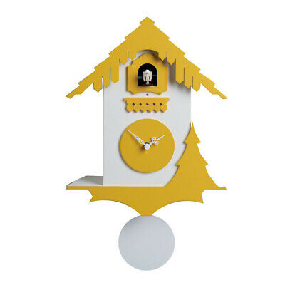CHALET white / yellow Wall Cuckoo Clock