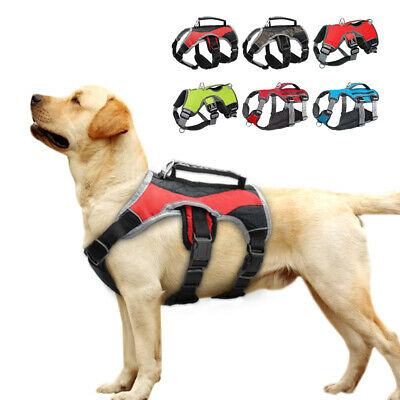 No Pull Mesh Padded Large Dog Harness with Handle Reflective Adjustable Pitbull