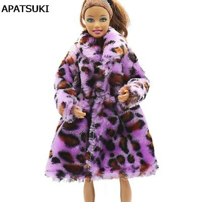Purple Leopard Print Fashion Doll Clothes For 11.5inch Doll's Dress 1/6 Kids Toy